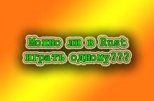 Можно ли в Rust играть одному
